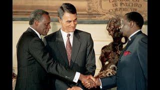 Momento histórico: assinatura dos Acordos de Bicesse