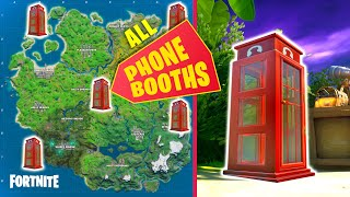 All Phone Booth Locations (Fortnite Season 2)
