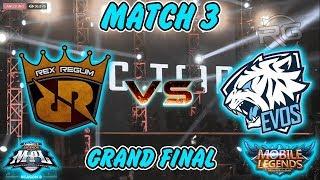 INILAH JUARA MPL - ID SEASON 2 !!! Grand Final Match 3 RRQ VS EVOS