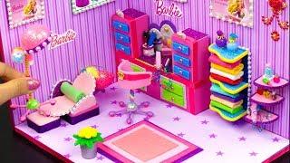 DIY Miniature Barbie Salon And Makeup Room