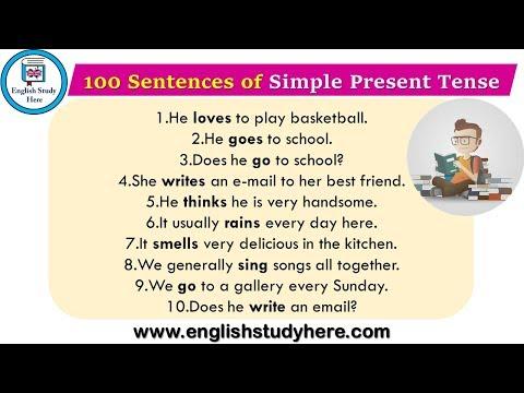 100 Sentences of Simple Present Tense | Example Sentences of Simple Present Tense