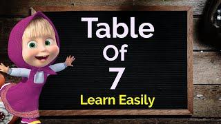 Table of 7, Learn Multiplication Table of 7, 7 ka Table, 7 ka pahada, Maths Table