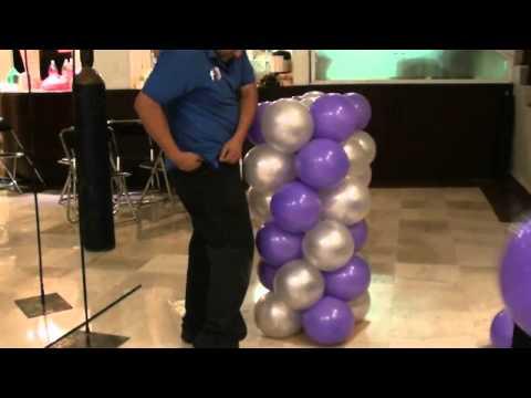 decorando de noche globos chasty
