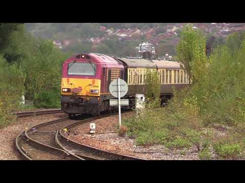 DB Cargo 67030 passes Newton Abbot with 'The Torbay & Dartmo…