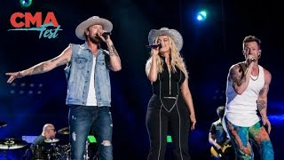 Gambar cover Florida Georgia Line & Bebe Rexha: Meant To Be (Live at CMA Fest 2018)