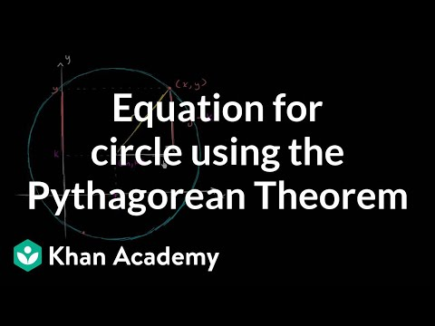 Pythagorean theorem and the equation of a circle