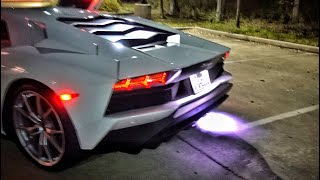 Lamborghini Aventador Throwing Insane Flames!!!