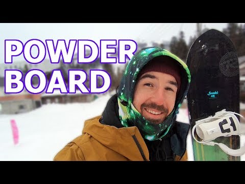 WHAT MAKES A GOOD POWDER SNOWBOARD?