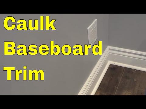How To Caulk Baseboard Trim-Tutorial For Hiding Gaps