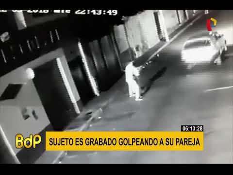 Ayacucho: cámaras registraron cómo un sujeto golpeó en reiteradas oportunidades a su pareja