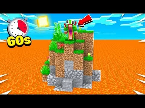 MINECRAFT, BUT LAVA RISES EVERY 60 SECONDS!