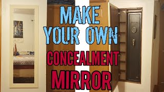 Making a tactical walls inspired concealment mirror
