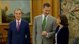 preview picture of video 'El Rey recibe en el Palacio de la Zarzuela a la alcaldesa de París'