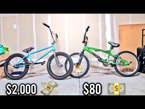 $2000 BMX BIKE VS $80 BMX BIKE!
