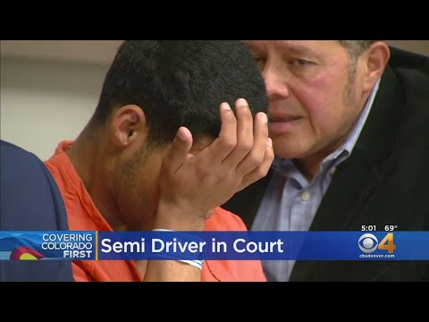Bond Set For Semi Driver In Deadly I-70 Crash - CBS Denver - Video