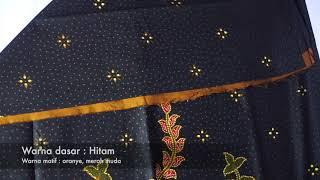 Batik Banyumas Kombinasi Tulis Motif Bucket Bunga