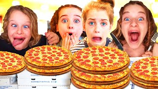 PIZZA EATING COMPETITION! Which NORRIS NUT can eat the most Pizza???