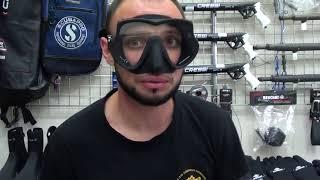 Маска  для плавания и подводной охоты Scubapro Devil черная от компании МагазинCalipso dive shop - видео