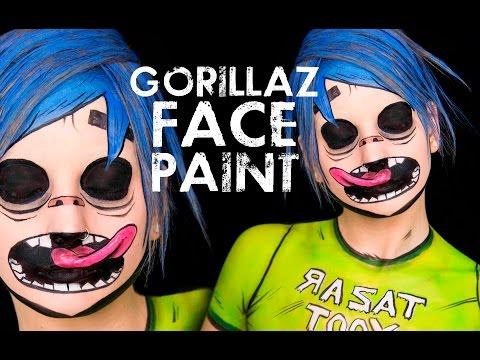 Gorillaz 2D Face & Body Paint Tutorial