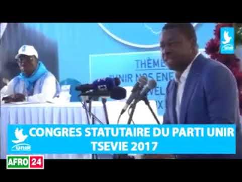 Discours de Faure Gnassingbé au congrès de UNIR du 28 octobre 2017
