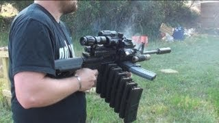 RANGE TEST THE ULTIMATE AR15 MALL NINJA TACTICAL ZOMBIE DESTROYER