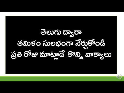 How To Say Simple Telugu Sentences In Tamil? | Spoken Tamil Through Telugu | KVR Institute