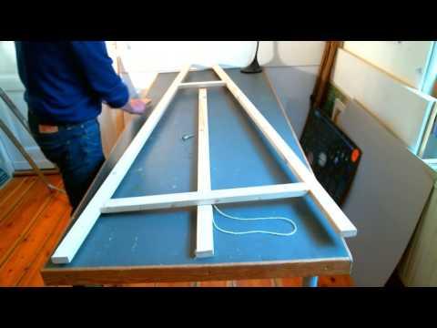 Staffelei selber bauen - Bauanleitung (Material: ca. 10 Euro)