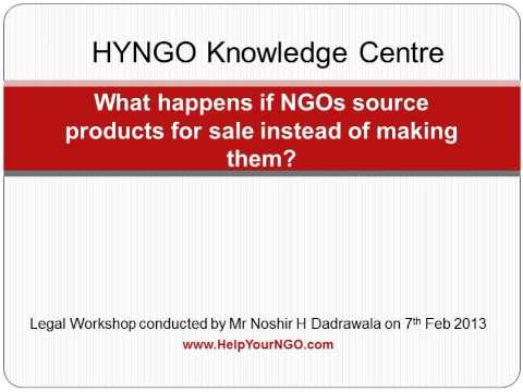 What happens if NGOs source products for sale instead of making them?