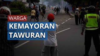 Detik-detik Aksi Tawuran Warga Kemayoran di Tengah PSBB Transisi DKI Jakarta