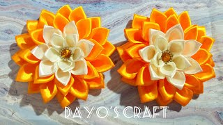 Easy Fabric Flower - Satin Dhalia
