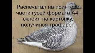 Как сделать приманку для гусей