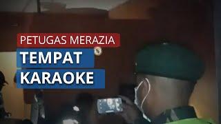 Nekat Buka saat Pandemi Corona, Petugas Dobrak Pintu Tempat Karaoke yang Digembok
