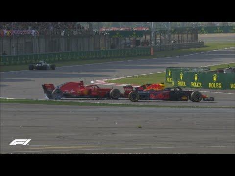 Verstappen Runs Into Vettel | 2018 Chinese Grand Prix