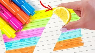 Back To School Life Hacks Using School Supplies!