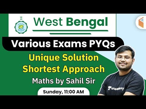 West Bengal Exams | Maths Previous Year Questions with Tricks | Sahil Khandelwal