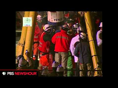 The First Chilean Miner Is Rescued