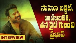 Prabhas about Saaho genre, budget, his diet for Baahubali 2 and more || #Baahubali2 || #SaahoTeaser