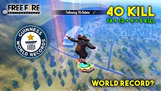 TOTAL 40 KILL WORLD RECORD? HEROIC RANK MATCH   GARENA FREE FIRE   TOTAL GAMING
