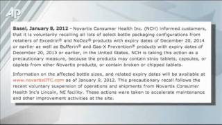FDA: Novartis Recall May Also Affect Painkillers