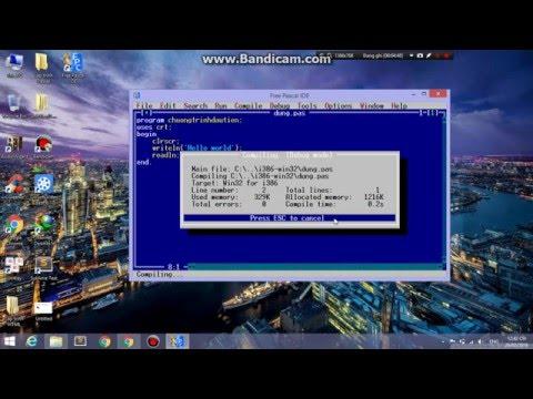 Bài 1 - Hướng dẫn download Free Pascal or Turbo để lập trình