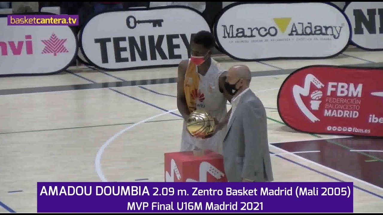 AMADOU DOUMBIA 2.09 m. Zentro Basket Madrid (Mali 2005). MVP Final U16M FBMadrid 2021 #BasketCantera.TV