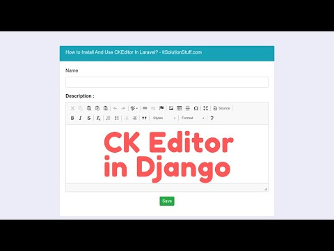 How to add Rich Text Field in Django | CK Editor in Text Field thumbnail