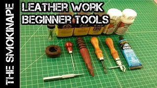 Leather Work - Beginner Tools and Supplies - TheSmokinApe
