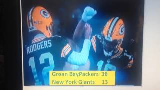 Green Bay Packers @ Dallas Cowboys Divisional Round 2016