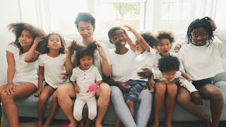 Our Family's Hair Wash Day Routine 💆🏾‍♀️  7 Kids 7 Different Hair Types (Part 1)