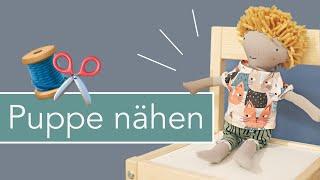 Puppe Kalle nähen mit kostenlosem Schnittmuster!