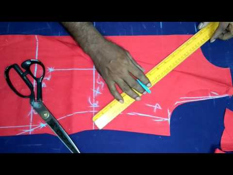 Easy Dress Top Cutting With Boat Neck in Telugu