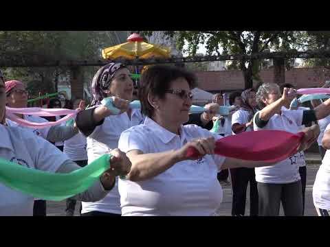 Başkan Uysal'ın seçim şarkısıyla sporu