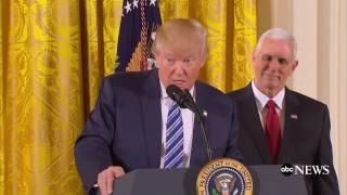 Trump Swears in Senior Staff (FULL SPEECH) | ABC News