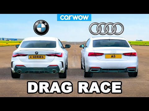 BMW 4 Series vs Audi A5 - DRAG RACE